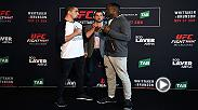 Watch the stars of Fight Night Melbourne face-off during media day, featuring main event fighters Robert Whittaker and Derek Brunson.