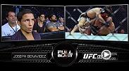 UFC flyweight Joseph Benavidez sat front row to give commentary while Demetrious Johnson defended the flyweight title against Henry Cejudo at UFC 197. Benavidez takes on Cejudo in the co-main event Saturday night at The Ultimate Fighter Finale.