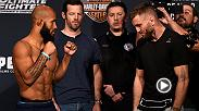 Watch the faceoff between Demetrious Johnson and Tim Elliott ahead of their flyweight title fight as part of The Ultimate Fighter Finale Saturday live from the Pearl at the Palm in Las Vegas. Watch live and free on FS1.
