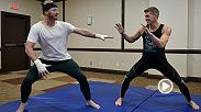 Toronto Blue Jay and former American League MVP Josh Donaldson gets in some MMA training with UFC title challenger Stephen Thompson and coach Brandon Gibson.