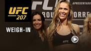 Watch the UFC 207 official weigh-in on Thursday, Dec. 29 at 11pm GMT live from T-Mobile Arena in Las Vegas.