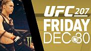 Save the date: Friday, Dec. 30. Live on Pay-Per-View - Ronda Rousey returns to face UFC women's bantamweight champion Amanda Nunes.