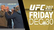 Watch the highlights from today's media day face-offs, featuring TJ Dillashaw and John Lineker, Dong Hyun Kim and Tarec Saffiedine, Johny Hendricks and Neil Magny, and many more.