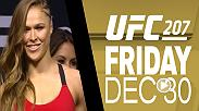 Watch the highlights from the UFC 207 official weigh-in, featuring an interview with Amanda Nunes ahead of her fight with Ronda Rousey, and co-main event fighters Dominick Cruz and Cody Garbrandt.