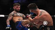 Watch Cody Garbrandt in the Octagon after claiming the UFC bantamweight title against Dominick Cruz.