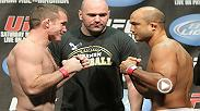 In the third matchup between UFC legends BJ Penn and Matt Hughes, Penn scored a KO victory at UFC 123. Don't miss Penn's return to the Octagon on Jan. 15.