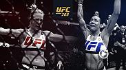 Holly Holm and Germaine De Randamie square off for the women's featherweight championship in Brooklyn on Feb. 11. Also featured in the main event are Anderson Silva vs Derek Brunson and Jacare Souza vs Tim Boetsch.