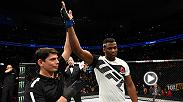 Watch Francis Ngannou backstage after his victory over Andrei Arlovski at Fight Night Denver.