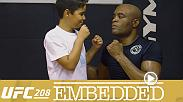 On Episode 1 of UFC 208 Embedded, Anderson Silva hits the gym in Rio de Janeiro, Holly Holm trains and takes notes ahead of her title fight, opponent Germaine de Randamie is all smiles and much more. See UFC 208 live on Pay-Per-View and UFC.TV Feb. 11.
