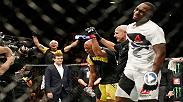 Anderson Silva reflects on his career and fighting in New York in his Octagon interview after defeating Derek Brunson at UFC 208. (Photo by Anthony Geathers)