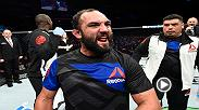 Johny Hendricks talks backstage after winning his debut middlweight fight against Hector Lombard at Fight Night Halifax.