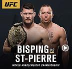 Former welterweight champion Georges St-Pierre will make his return to the Octagon against middleweight champion Michael Bisping for the 185-pound crown. The two face off at a press conference on Friday, March 3 at 5pm/2pm ETPT live from T-Mobile Arena.