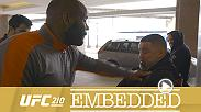 "Chris Weidman trains a new generation of fighters. Gegard Mousasi breaks down the matchup on a scenic drive to his Leiden gym. Anthony ""Rumble"" Johnson stays focused on his striking, as champ Daniel Cormier packs up for a family trip to Buffalo."