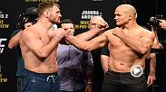 Watch the stars of UFC 211 faceoff at Friday's official weigh-in, featuring Stipe Miocic, Junior Dos Santos and more.