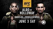 Jose Aldo and Max Holloway fight to become the undisputed featherweight champion at UFC 212 on June 3, live on Pay-Per-View.