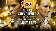 UFC 213 is a legendary card, headlined by the women's bantamweight title fight between Amanda Nunes and Valentina Shevchenko. Also on the main card is Yoel Romero vs Robert Whittaker, and Robbie Lawler vs Donald Cerrone.