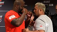 Fighting in his home country, Mark Hunt plans to derail the six-fight win streak of heavyweight surging contender Derrick Lewis. UFC commentator Joe Rogan previews the big heavyweight showdown set for FS1 Saturday at Fight Night Auckland.