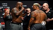 Guarda il meglio del weigh-in di venerdì per Fight Night Auckland con Derrick Lewis e Mark Hunt.