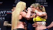 Check out the highlights from Friday's official Fight Night Singapore weigh-in, featuring main event fighters Holly Holm and Bethe Correia.
