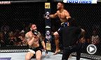 Watch Kevin Lee and Michael Chiesa in the Octagon after Lee submitted Chiesa near the end of Round 1.