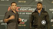 Fabricio Werdum and Alistair Overeem will complete their trilogy when they face off at UFC 213 on July 8.