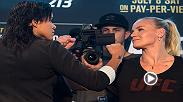Watch the face-offs from Thursday's UFC 213 media day, featuring Amanda Nunes, Valentina Shevchenko and more.