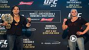 Amanda Nunes and Valentina Shevchenko discuss their UFC 213 title fight in this edition of the UFC Minute.