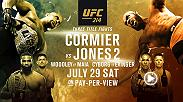 UFC 214 on July 29 is loaded with three title fights, including Daniel Cormier vs Jon Jones, Cris Cyborg vs Tonya Evinger and Tyron Woodley vs Demian Maia.