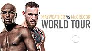 Floyd Mayweather & Conor McGregor embark on a four-city international press tour to announce their Saturday, Aug. 26 blockbuster on SHOWTIME PPV. Watch the presser on Wednesday, July 12 at 5:30pm ET live from the Budweiser Stage in Toronto, Canada.