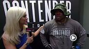 Azunna Anyanwu is interviewed by Laura Sanko after his exciting victory int he debut episode of Dana White's Tuesday Night Contender Series.