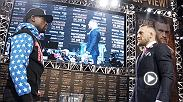 Recap Day 1 of the Mayweather vs McGregor World Tour as the stars met at the Staples Center in Los Angeles, California.
