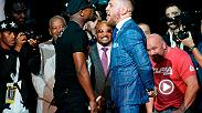 Watch Floyd Mayweather and Conor McGregor faceoff during the second day of their World Tour in Toronto, Canada.