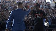 Recap Day 2 of the Mayweather vs McGregor World Tour as the stars met at the Staples Center in Toronto, Canada. Conor McGregor takes on Floyd Mayweather in a boxing match super fight on Aug. 26 at T-Mobile Arena in Las Vegas.