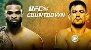 In the UFC 214 co-main event, welterweight champion Tyron Woodley readies to face jiu-jitsu master Demian Maia, who patiently racked up seven straight wins en route to his second UFC title shot.