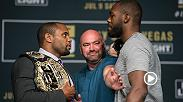 Daniel Cormier and Jon Jones began fight week by taking part in the UFC 214 media conference call. Hear some clips from the two ahead of their rematch title fight at UFC 214 in Anaheim, California Saturday on Pay Per View.