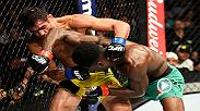Watch Aljamain Sterling in the Octagon after his victory over Renan Barao.