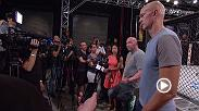 UFC president Dana White and UFC Vice President of Athlete Health and Performance Jeff Novitzky answer questions for assembled media about Jon Jones potential Anti-Doping violation stemming from an in-competition test before UFC 214.