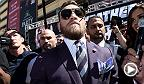 UFC correspondent Megan Olivi spoke to fans of both Conor McGregor and Floyd Mayweather as both fighters made their grand arrival to signify the start of fight week in Las Vegas ahead of the massive event.