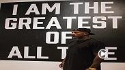 Watch as UFC fighter Khalil Rountree visits the Muhammad Ali Art Exhibit at the Bellagio in Las Vegas.