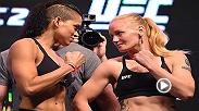 Watch Amanda Nunes and Valentina Shevchenko's first bout before they enter the Octagon in a rematch at UFC 215 on September 9.