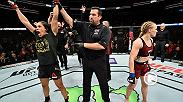 Watch Amanda Nunes celebrate in the Octagon after she defended her belt against Valentina Shevchenko at UFC 215.