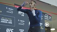Tony Ferguson, Demetrious Johnson, Ray Borg and Kevin Lee demonstrate some of their skills at open workouts for UFC 216 at T-Mobile Arena in Las Vegas, NV. UFC 216 takes place Saturday Oct. 7. Pre-order it now at: http://www.ufc.com/ppv