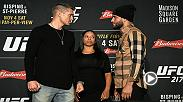 Watch the face-offs from Wednesday's UFC 217 Media Day, featuring Stephen Thompson and Jorge Masvidal.