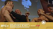 Michael Bisping, Cody Garbrandt and Joanna Jedrzejczyk – as well as challengers Georges St-Pierre, TJ Dillashaw and Rose Namajunas make their way back to Madison Square Garden for ceremonial weigh-ins. Plus much more on final episode of Embedded.