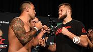 Check out the weigh-in highlight between Fabricio Werdum and Marcin Tybura before they face off tomorrow night live on FS1 in the main event at Fight Night Sydney.