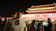 Former UFC heavyweight champion Cain Velasquez stopped in Beijing, China during his tour of Asia before Fight Night Shanghai.