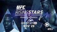 Take a deep dive into the training of rising heavyweight star, Francis Ngannou, before his co-main event bout against Alistair Overeem at UFC 218. Rising Stars featuring Ngannou premieres on YouTube on Nov. 26.