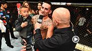 Hear Max Holloway speak to UFC commentator Joe Rogan inside the Octagon after his third-round TKO win against Jose Aldo in their rematch to retain his UFC featherweight champion at Little Caesars Arena in Detroit, Michigan at UFC 218.