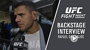 Former lightweight champion Rafael Dos Anjos improved to a perfect 3-0 since moving to welterweight after a convincing unanimous decision win over former 170-pound champ Robbie Lawler. He spoke about the win backstage in Winnipeg.