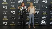 Watch the face-offs from Thursday's UFC 219 Media Day, featuring main event stars Cris Cyborg and Holly Holm.